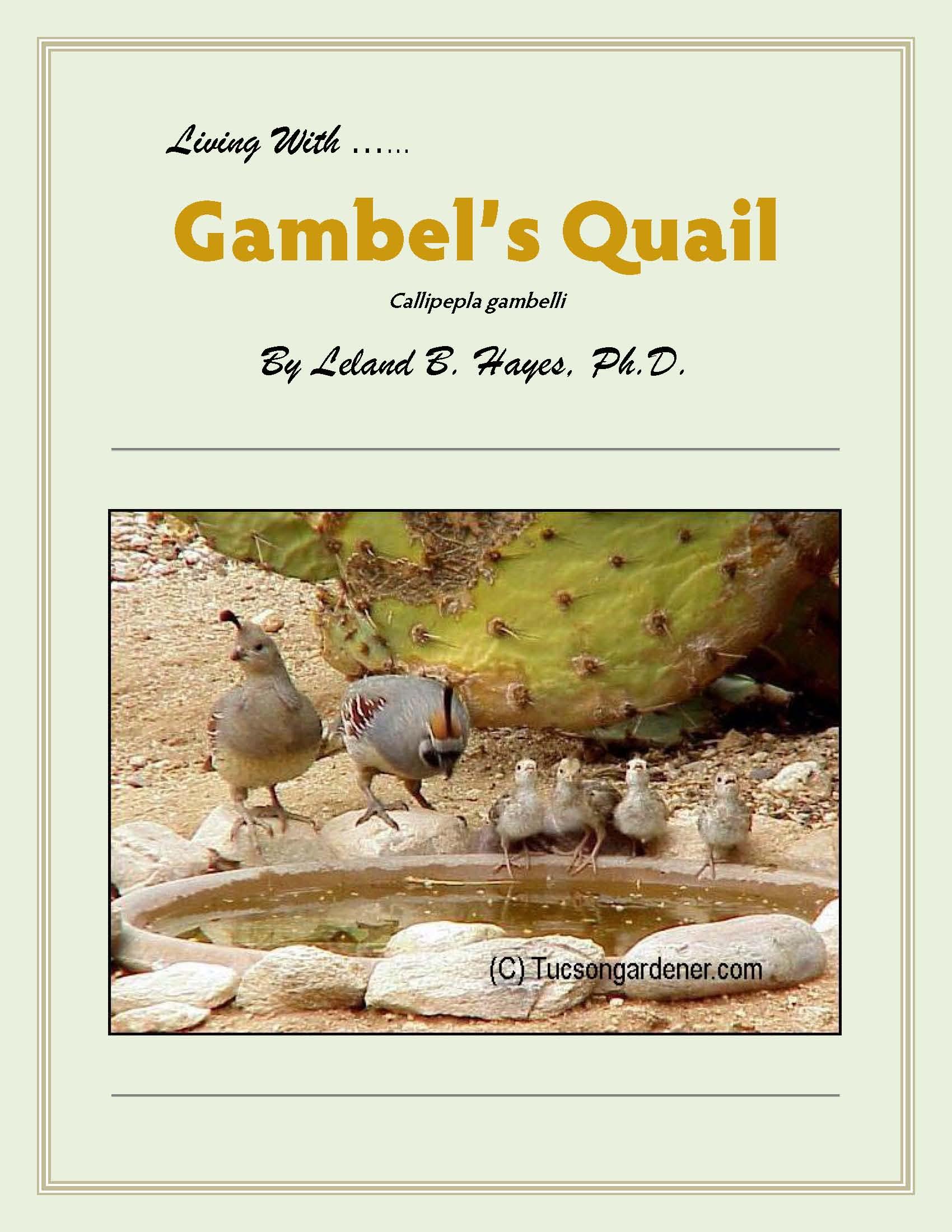 Living With Gambel's Quail, a CD by Leland Hayes